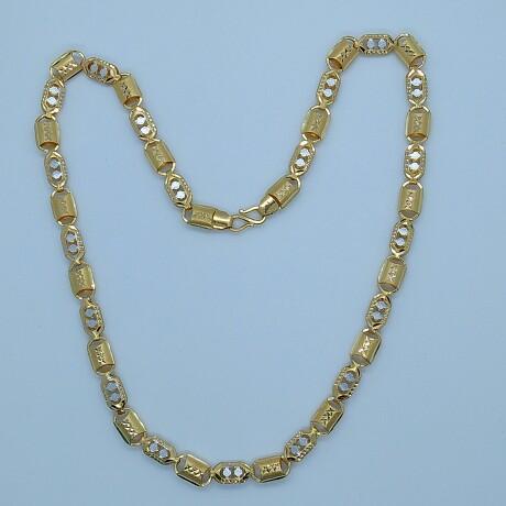 916 HM Gold Fancy Rhodium Chain MJ-CH-004
