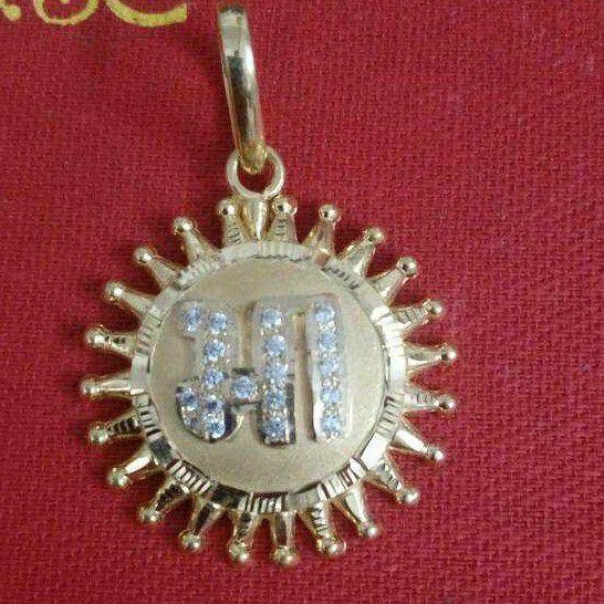 22KT Gold Surya Design Maa Pendant