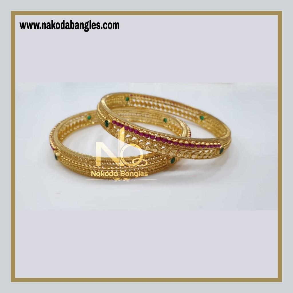 916 Gold Chakri Bangles NB - 857