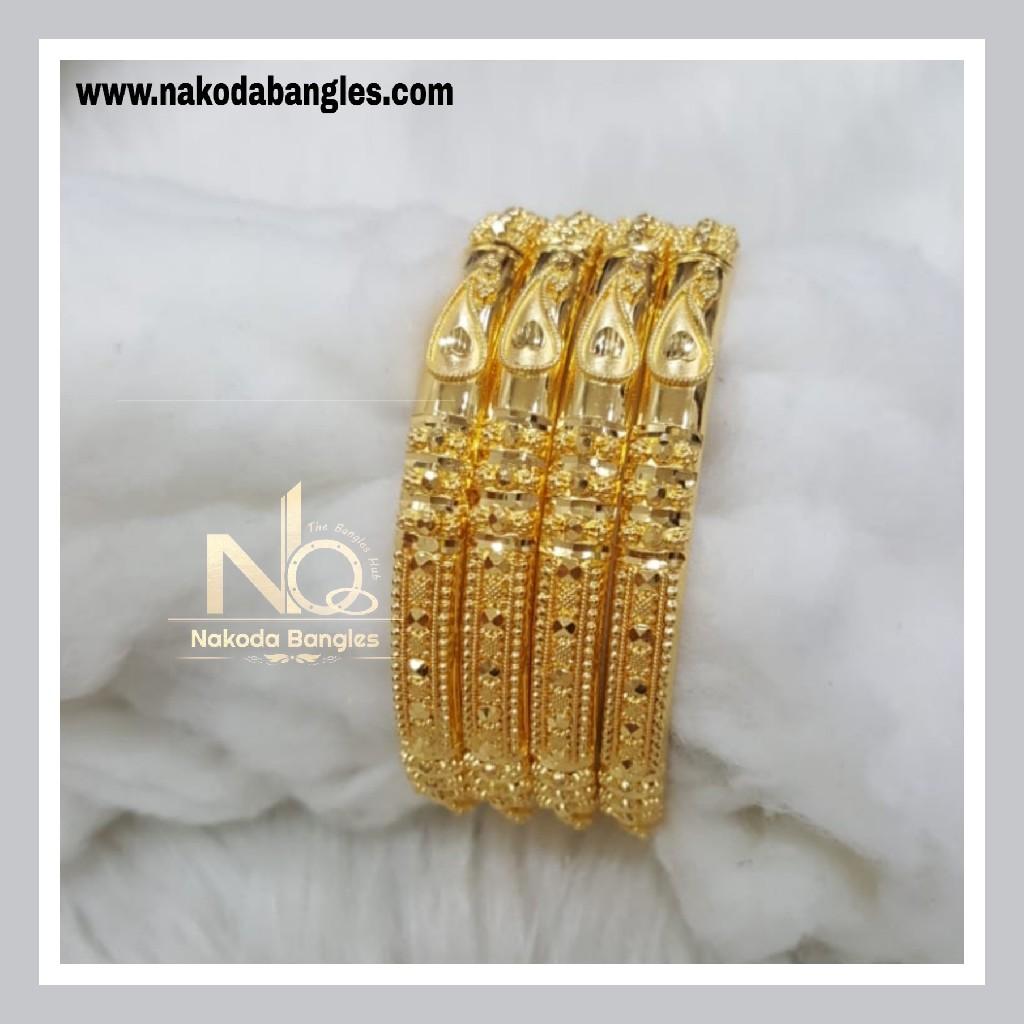 916 Gold Patra Bangles NB - 771