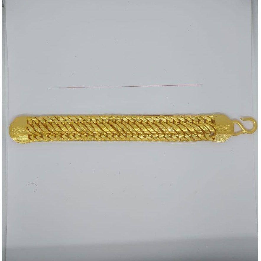 916 gold fancy gent's solid bracelet