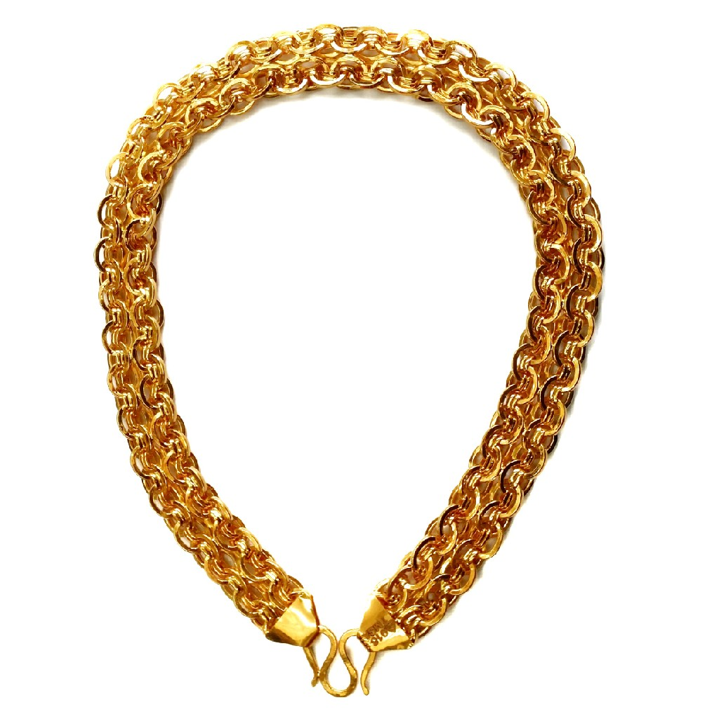 22k gold designer holo chain mga - ggc003