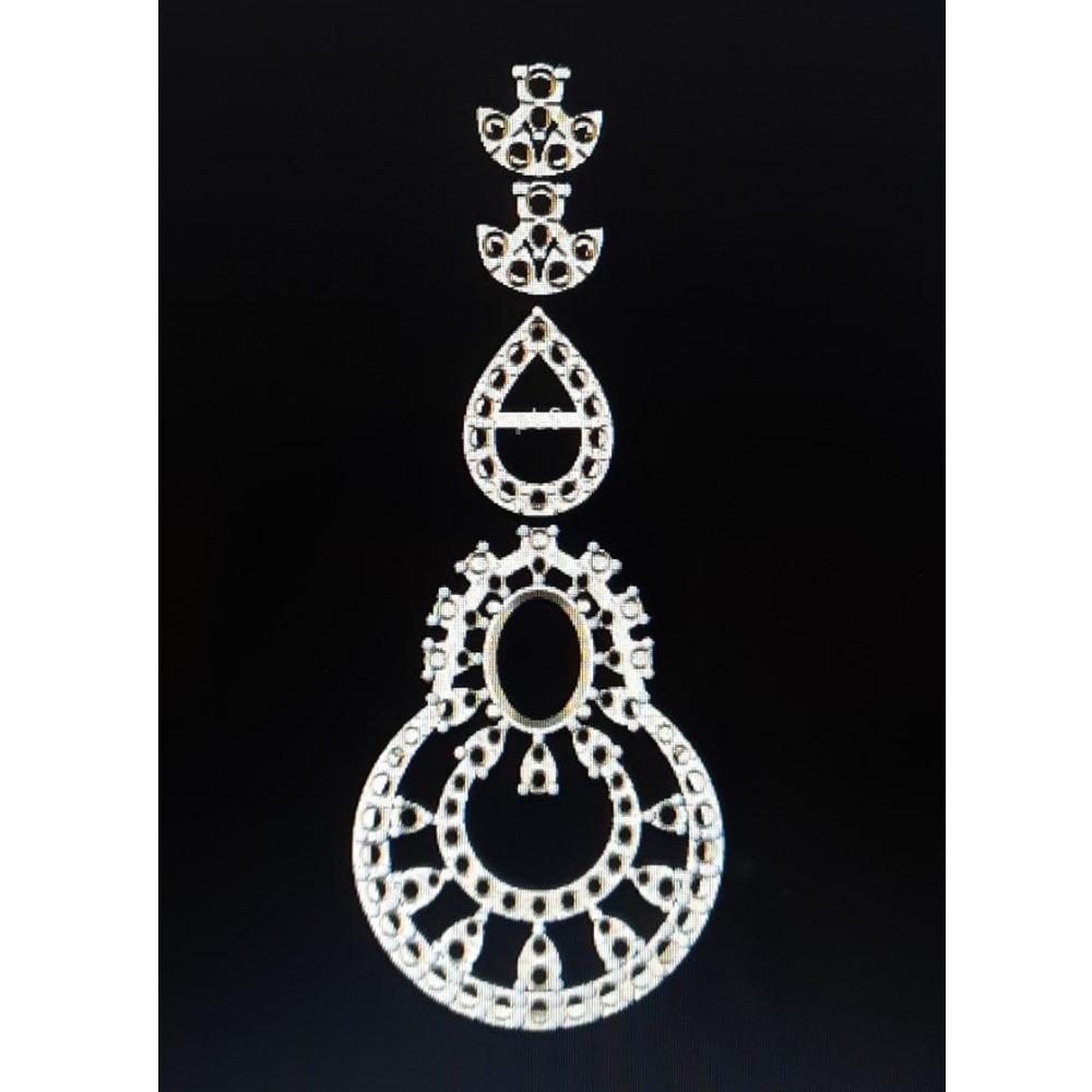 diamond  necklace 14k rose gold mount