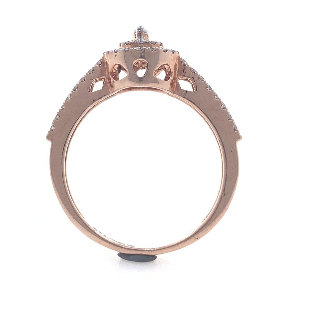 18kt / 750 rose gold contemporary diamond ladies ring 9lr10