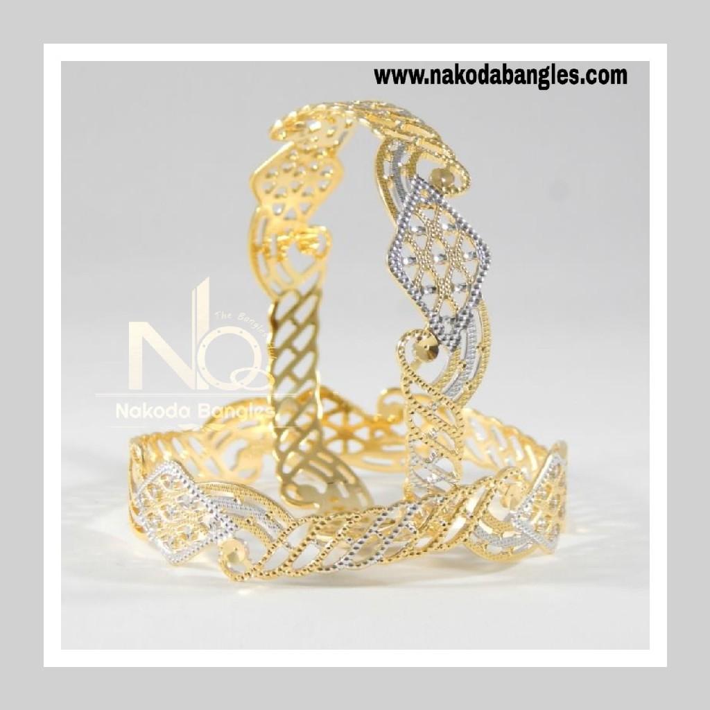 916 Gold CNC Bangles NB - 707