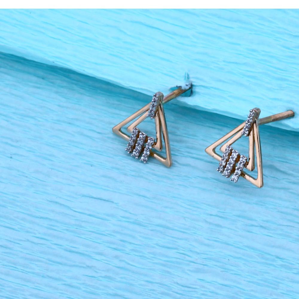 18KT Rose Gold Ladies Hallmark Stylish Pendant Set  RMPN52