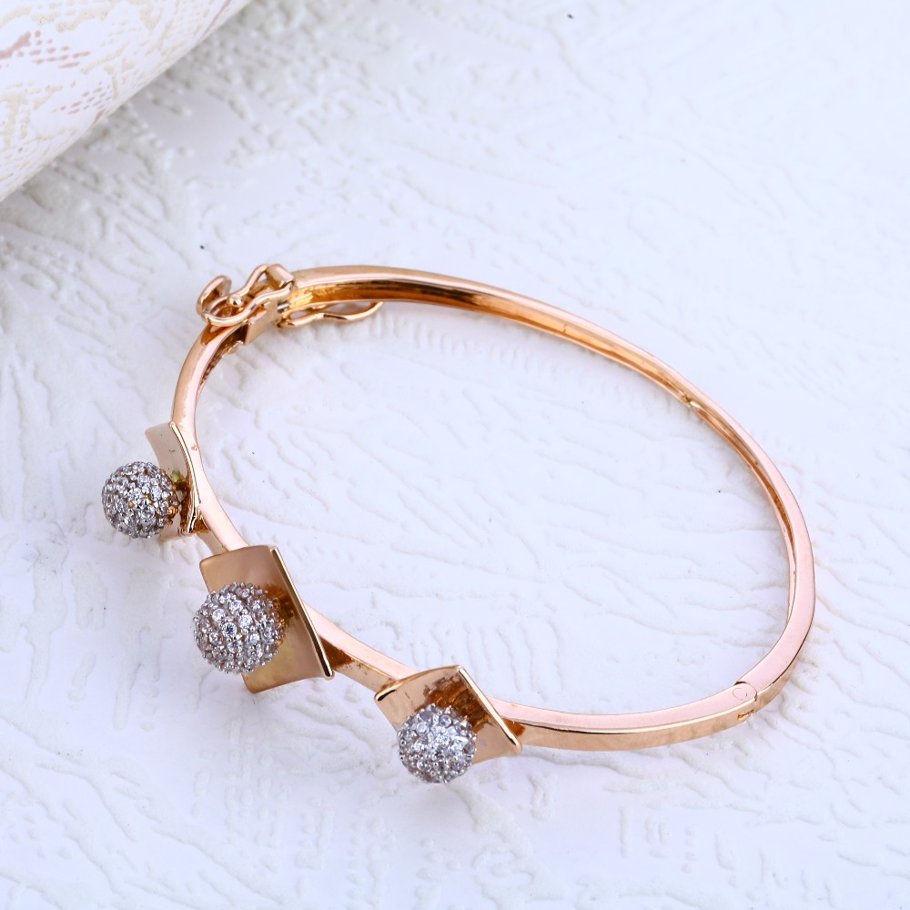 18KT Rose Gold  Hallmark Kada Bracelet RLKB187