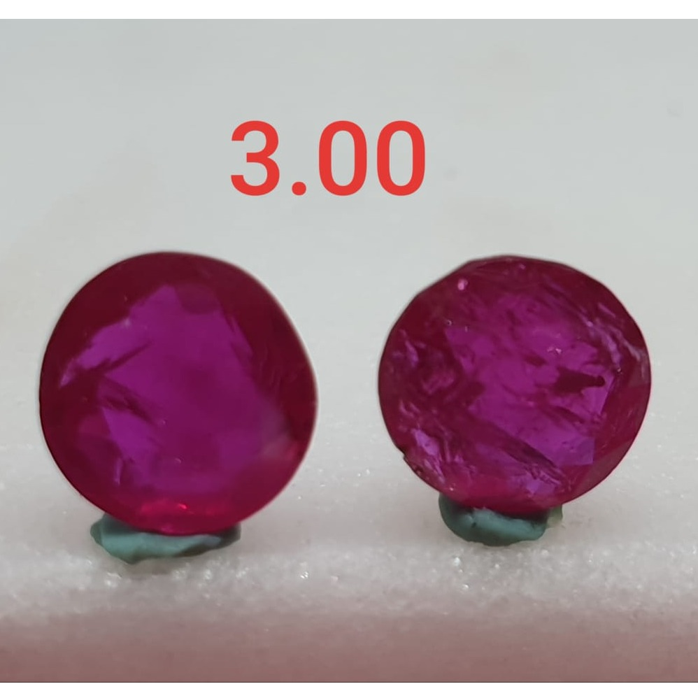 3.00ct Off-Round Pink Ruby-Manek VG-R26