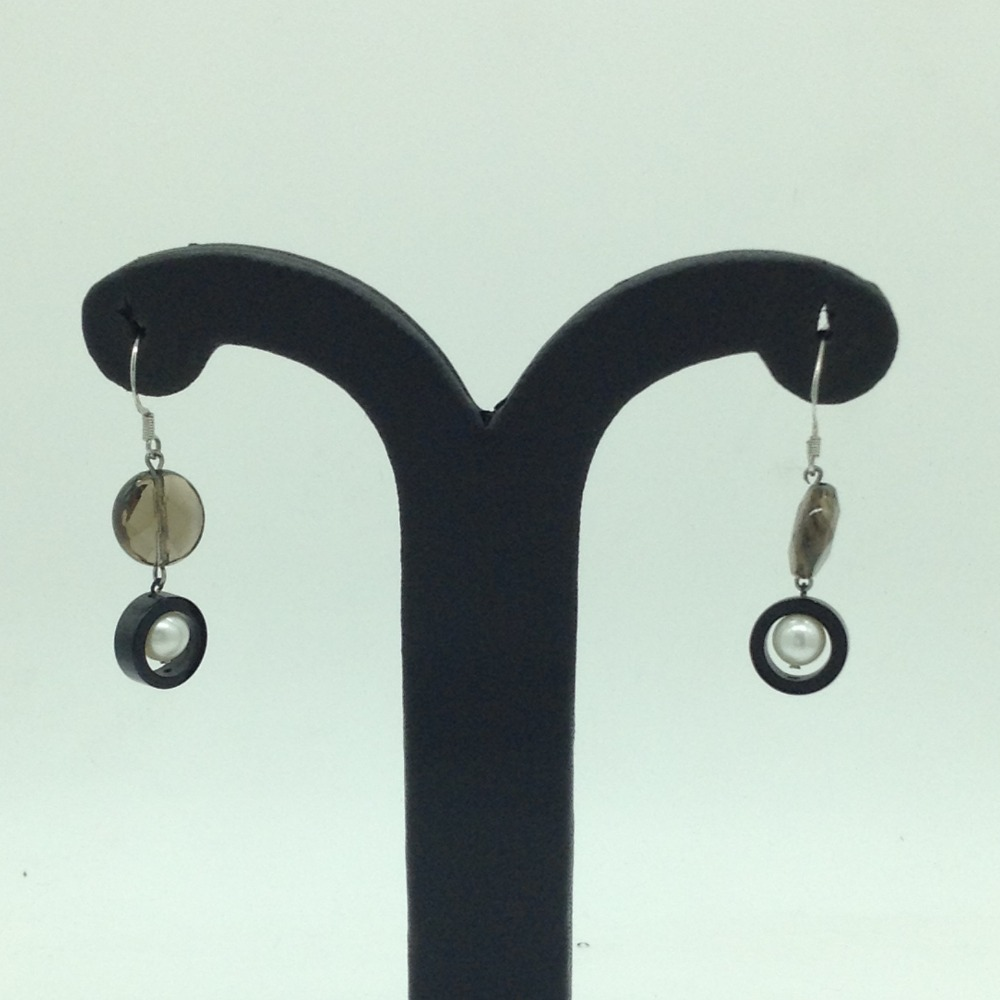 Pearl Semi StoneSilverEar HangingsJER0122