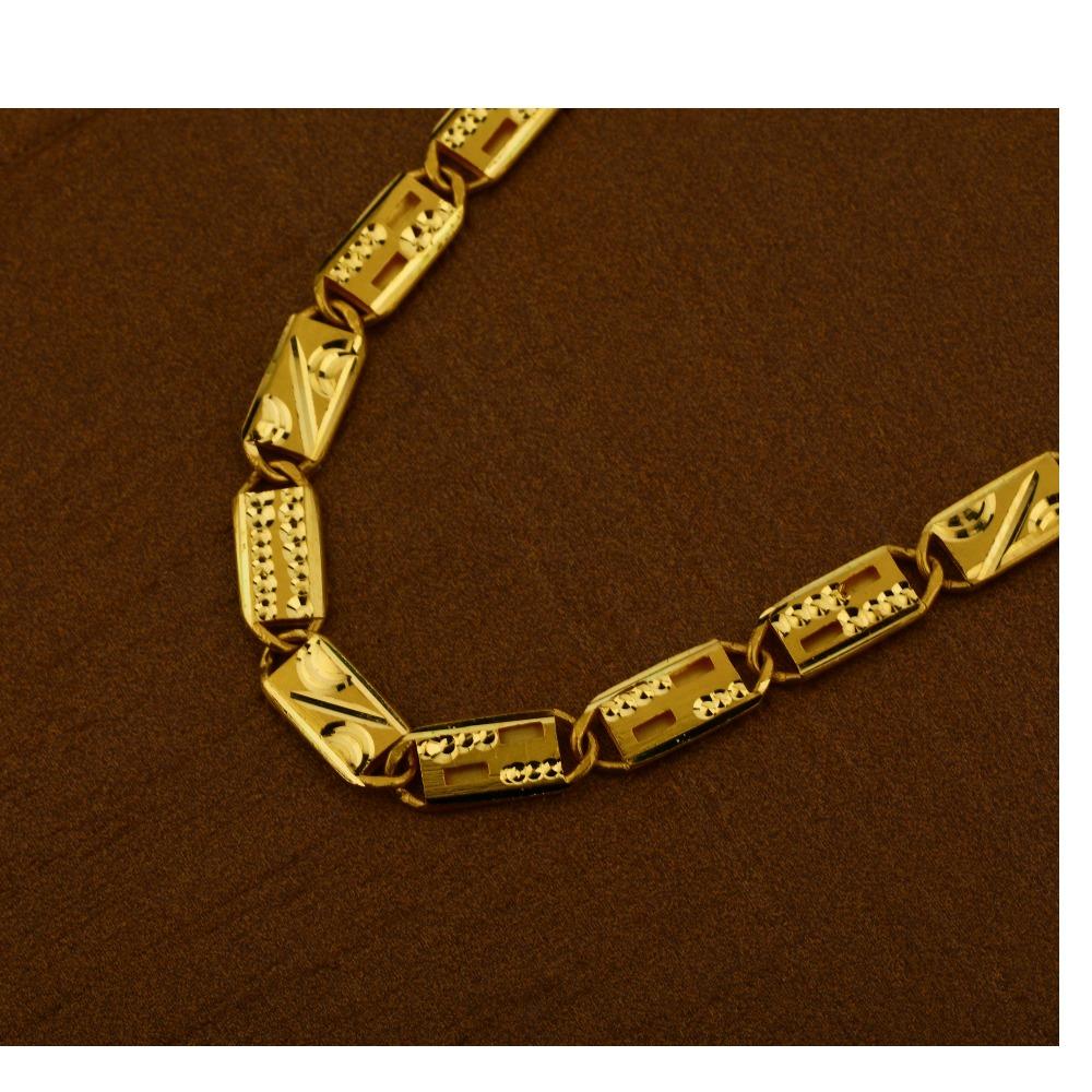 22kt  Gold Hallmark Fancy Men's  Nawabi Chain  MNC16