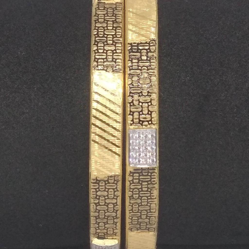22kt fancy single paip copper kadli