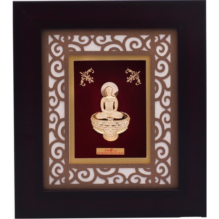 22Kt Gold Mahavirji Photo Frame AJ-12