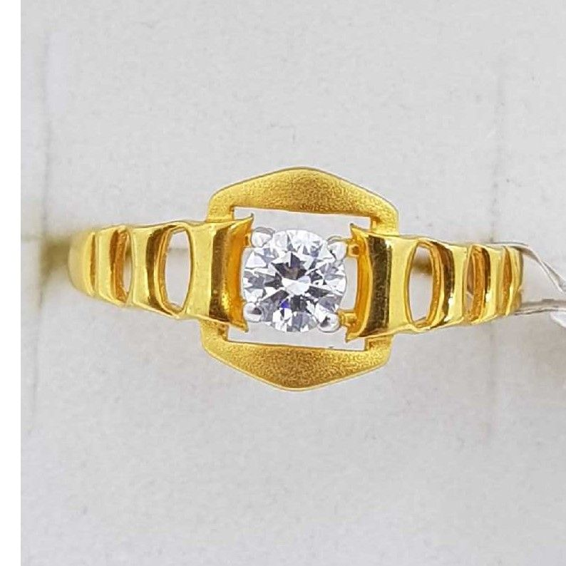 916 Gold single stone Ladies Ring SJ-LR/45