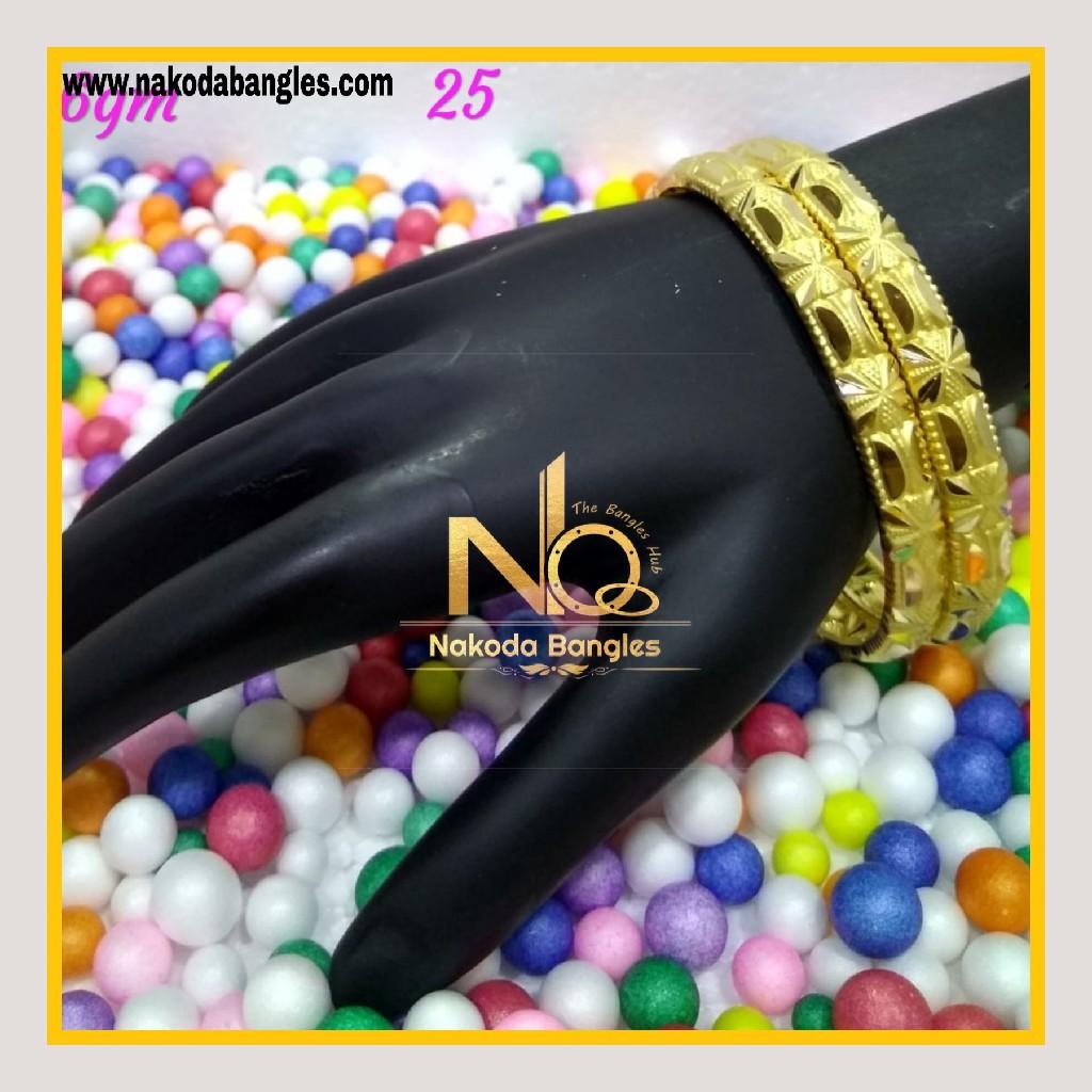 916 Gold Patra Bangles NB - 590