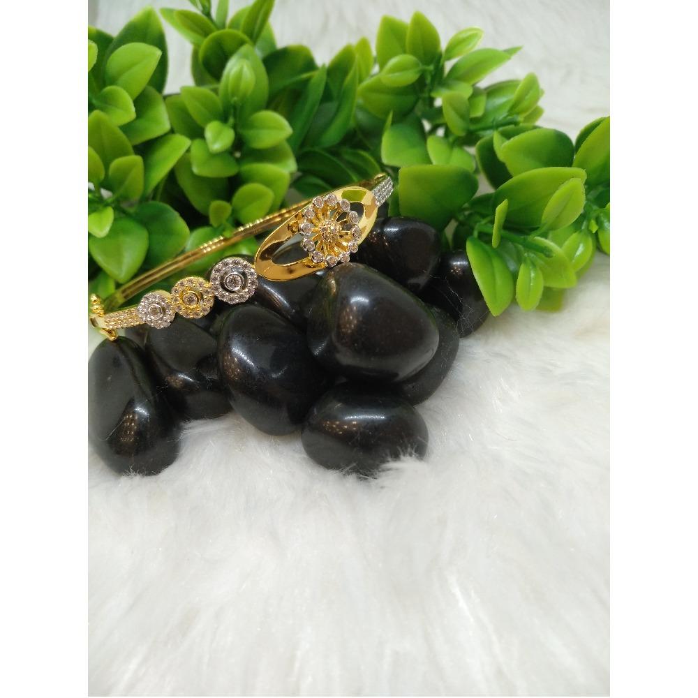 916 Gold CZ Fancy Signetic Bracelet PO-B001