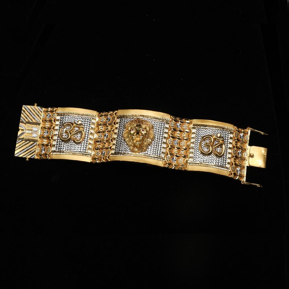 916 Gold Designer Om Design Bracelet Lucky ML-B011