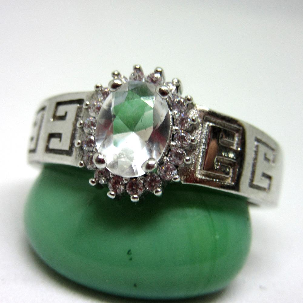 Silver 925 single oval shape stone ring sr925-50