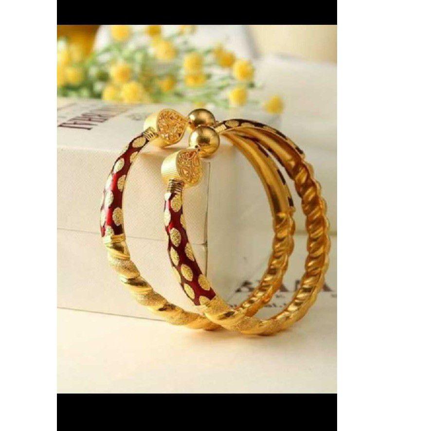 22kt Gold Fancy Ghaba Kadali (Bangle)