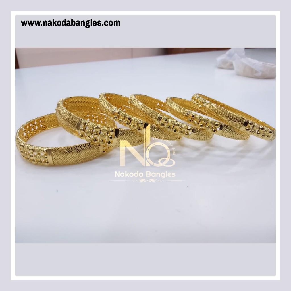 916 Gold Patra Bangles NB - 845