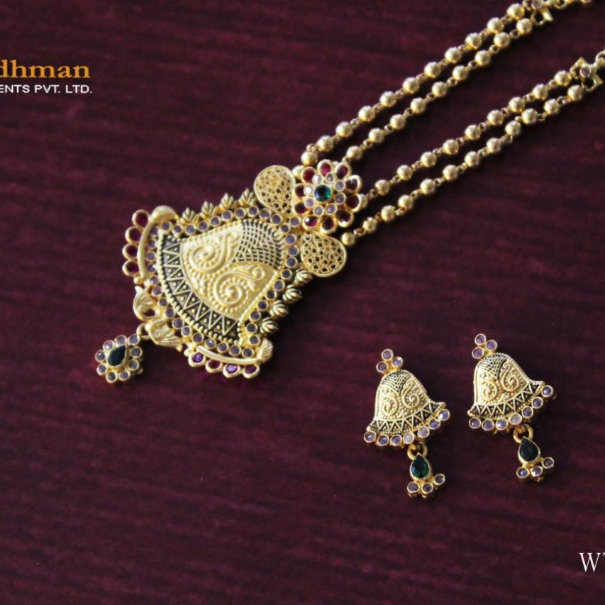 22ct antique dokiya with fancy earrings