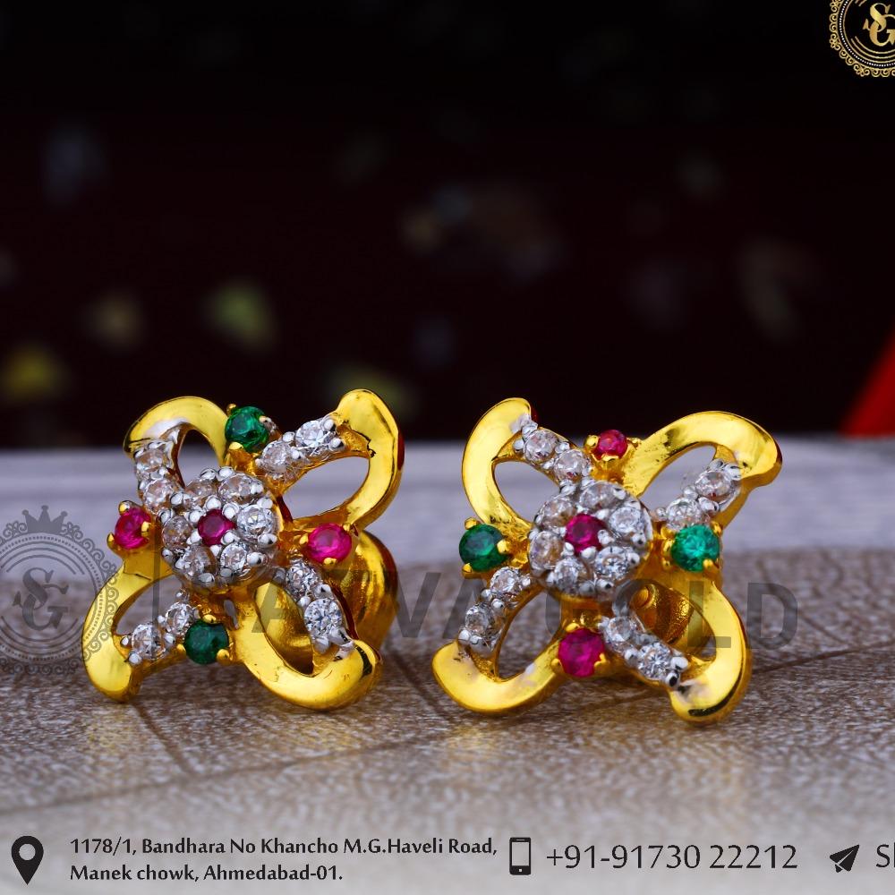 916 gold earrings sge-0047