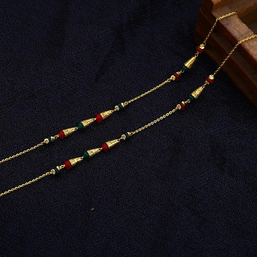 22kt Gold Hallmark Antique Chain Mala AC140