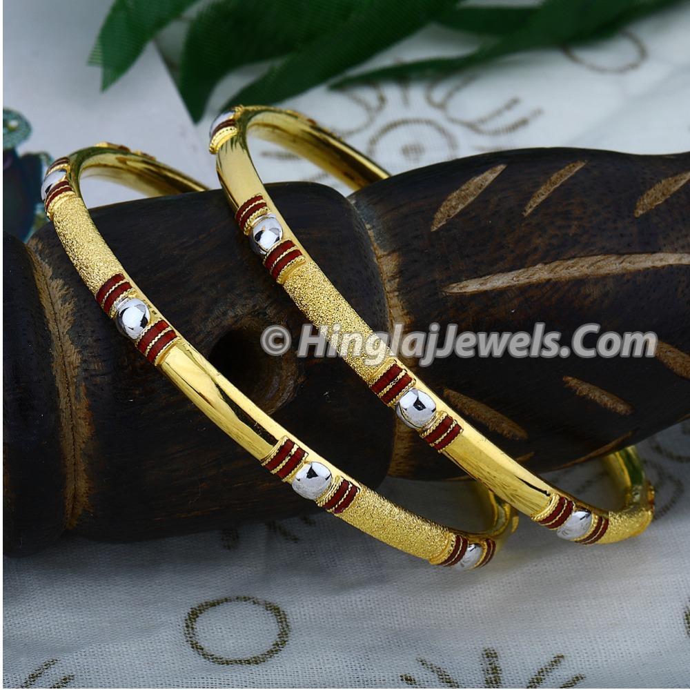 916 Gold Fancy Copper Kadali Bangle HJ-5895