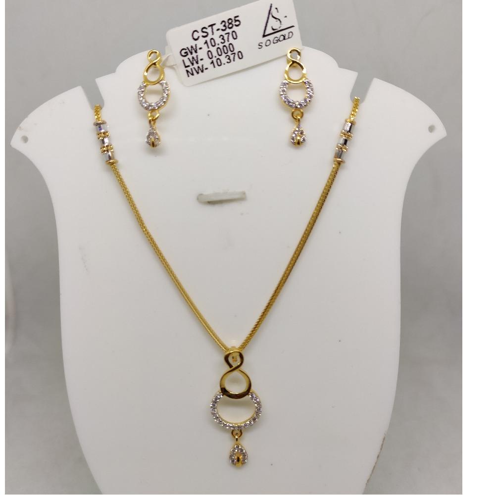 916 cZ gold Necklace set SOG-N92