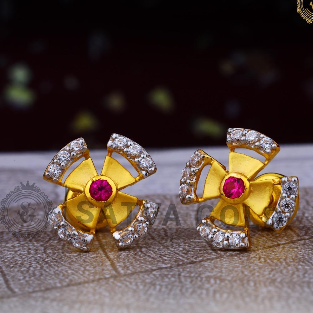 916 gold earrings sge-0046