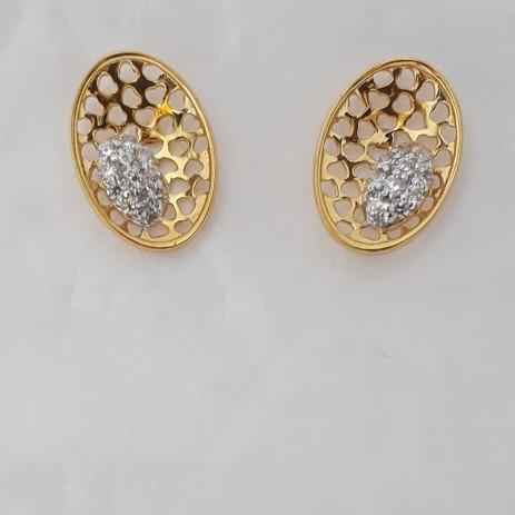 916 cz gold fancy earrings