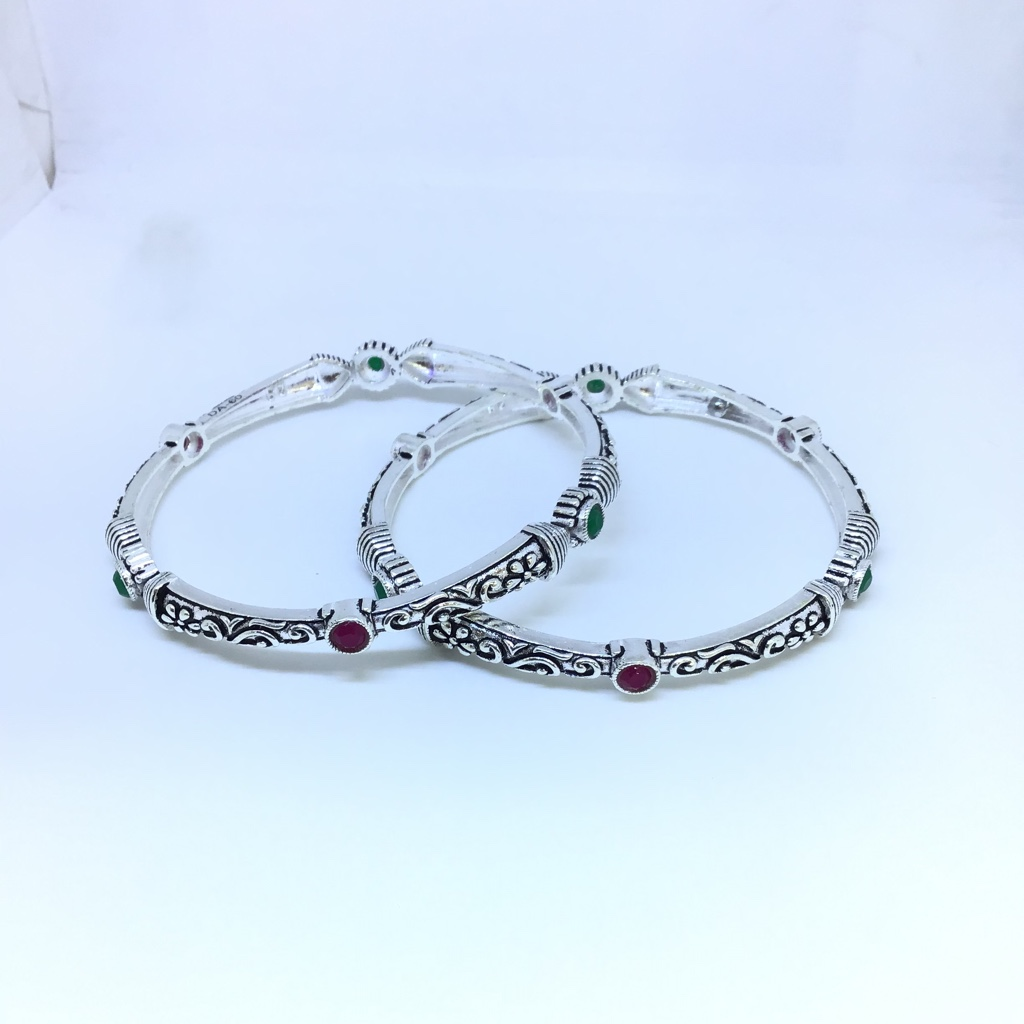 925 STERLING SILVER OXIDISED BANGLES