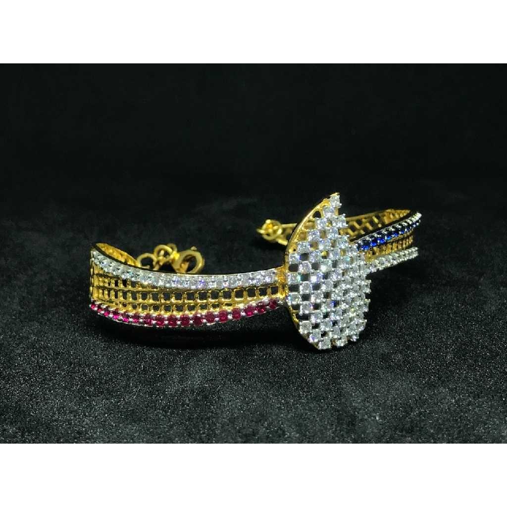 18k Ladies Fancy Gold Kada K-51045