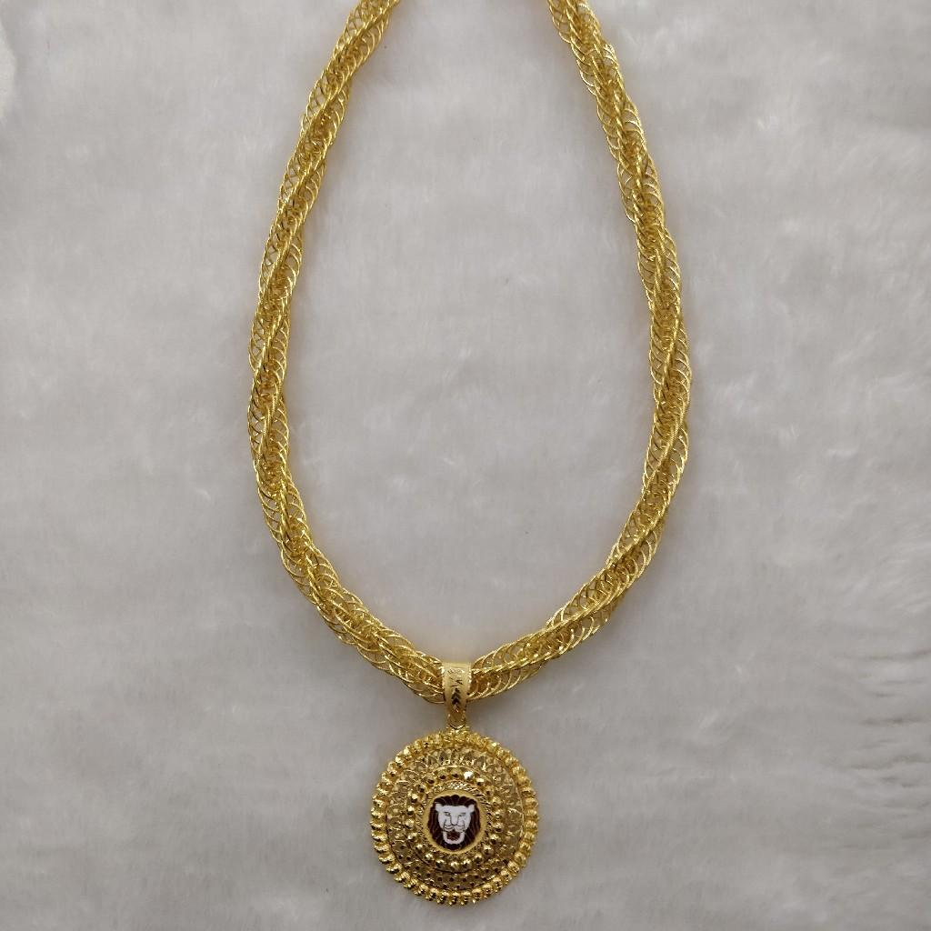 916 Gold Gent's Fancy Chain-Pendant