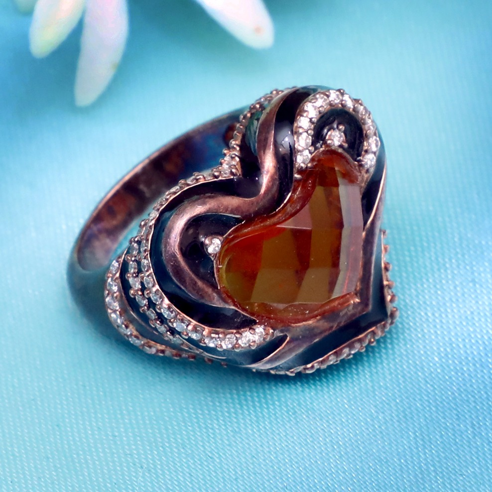 999 Silver Antique Ring For Women PJ-R024