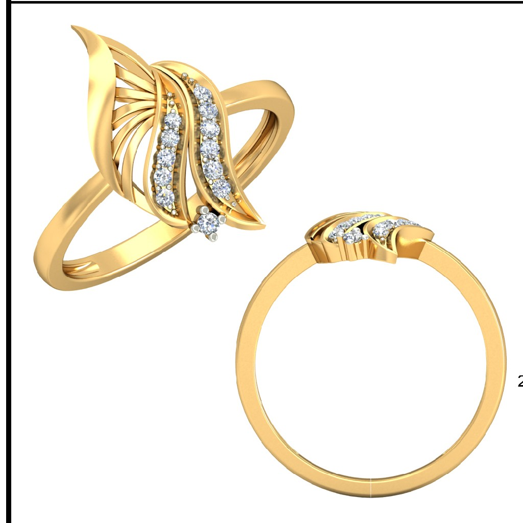 22KT Yellow Gold Tobias Infinity Ring For Women
