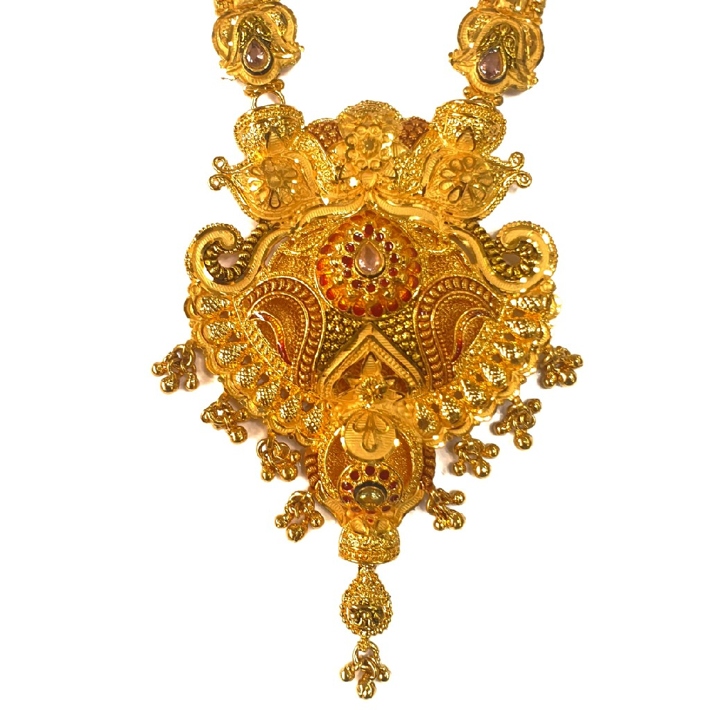 One gram gold forming necklace set mga - gfn0027