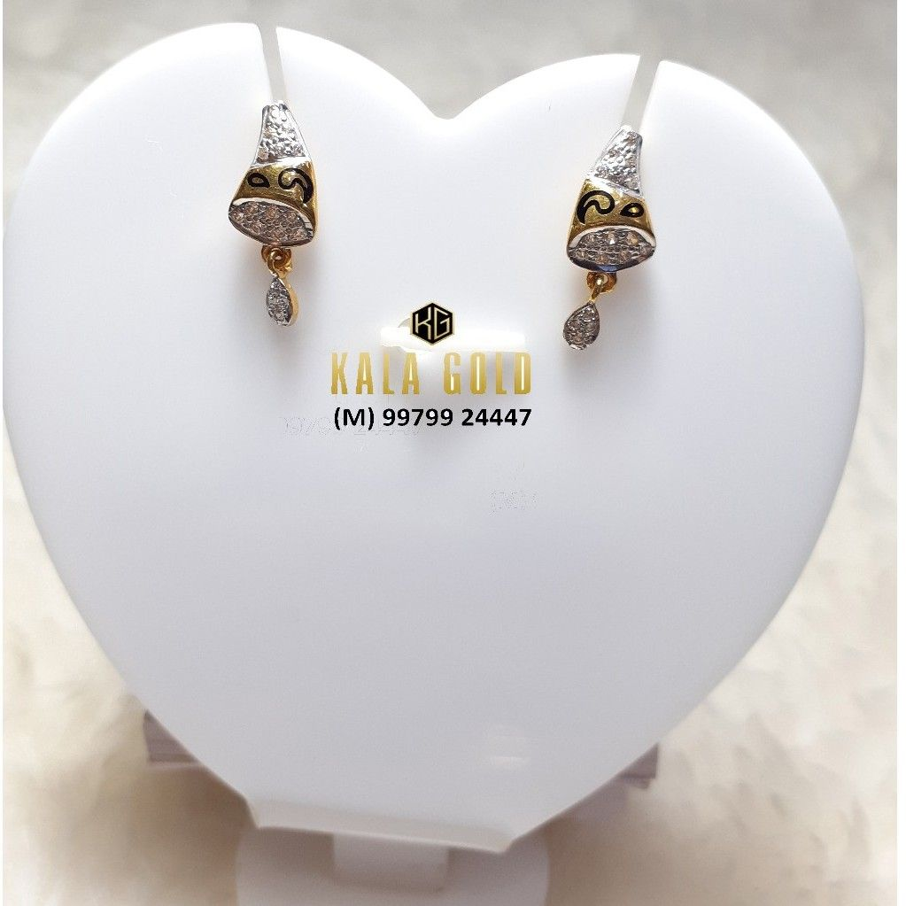 916 Oxidised Cz Earrings