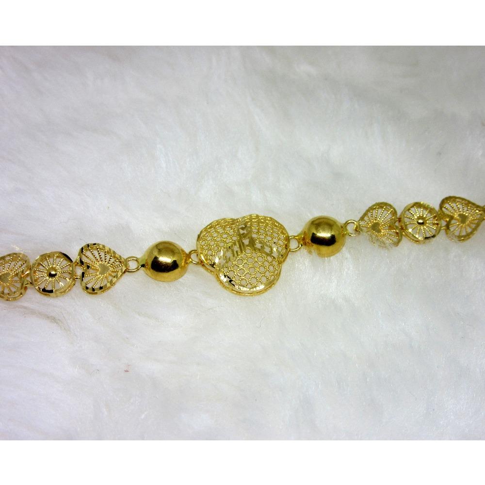 Gold Heart Shape Ledies Bracelet