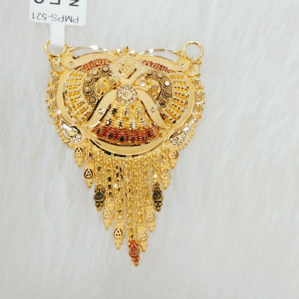 22k gold antique pendant