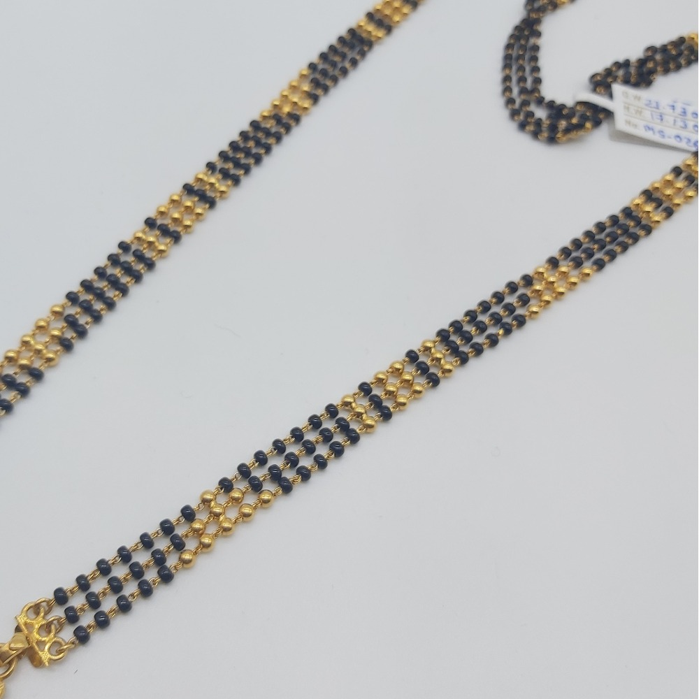 Gold bridal mangalsutra in antique look