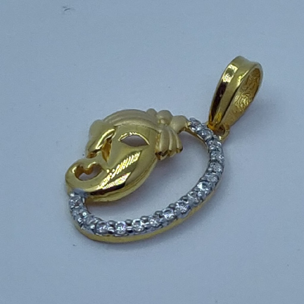 22k/916 executive fancy ganpati pendant