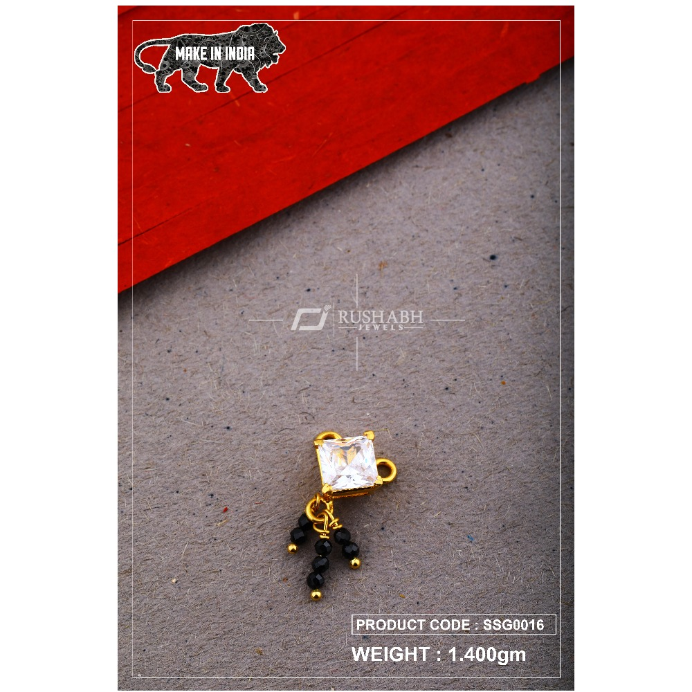 22 Carat 916 Gold Ladies singal stone msp smg0016