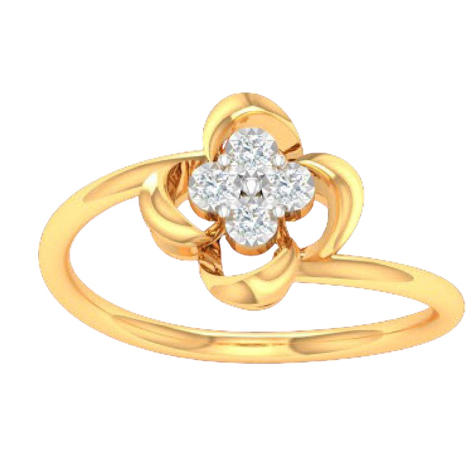 18k gold real diamond ring rj-kdr-10