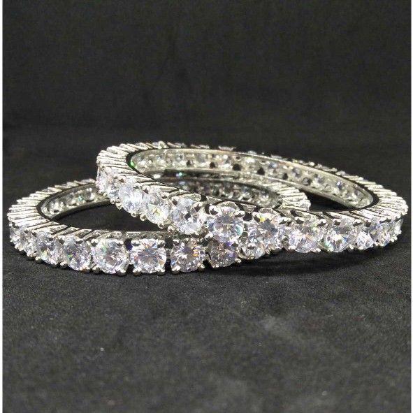 Ad diamond designed forming bangle