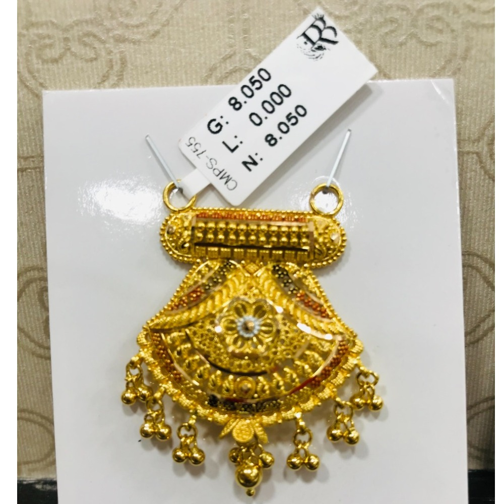 22 carat gold traditional ladies mangalsutra RH-MN783