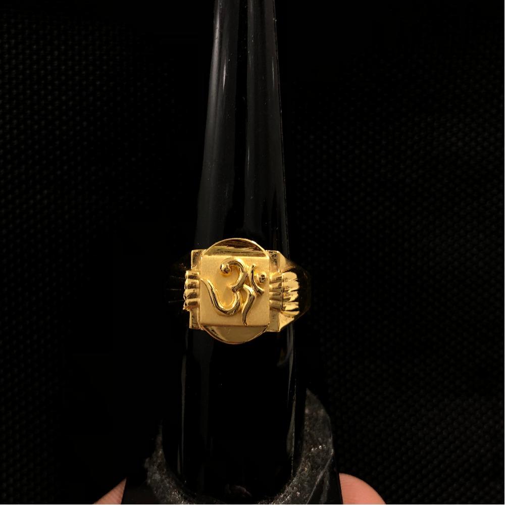 22KT Gold Om Design Ring KDJ-R031