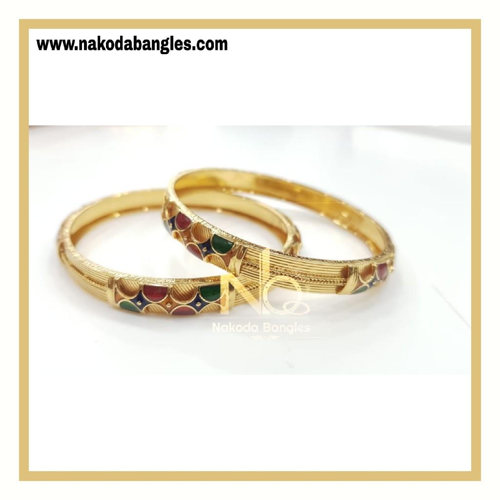 916 Gold Patra Bangles NB - 775