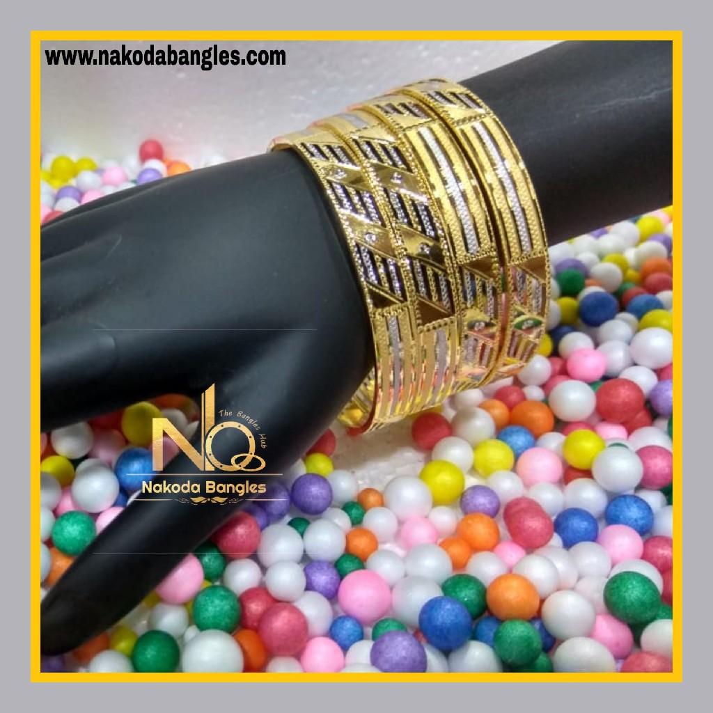 916 Gold Patra Bangles NB - 625