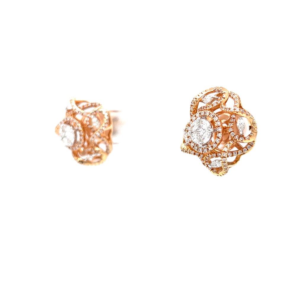 Aufwändig hallmarked diamond earring with fancy diamonds 7top22