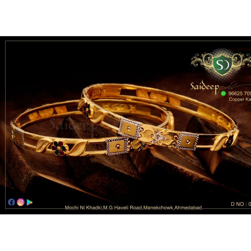 22KT Gold Hallmark Stylish Bangle